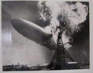 The Hindenburg zeppelin crash, May 6, 1937.